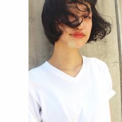 ストリート 暗髪 パーマ ピュア ヘアスタイルや髪型の写真・画像