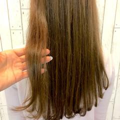 学校 ロング ベージュ ハイライト ヘアスタイルや髪型の写真・画像