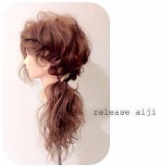 大人かわいい ナチュラル スウィート 簡単ヘアアレンジ ヘアスタイルや髪型の写真・画像