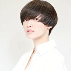 ショート ボーイッシュ マッシュ かっこいい ヘアスタイルや髪型の写真・画像