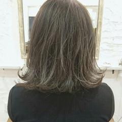 ボブ ストリート グラデーションカラー アッシュ ヘアスタイルや髪型の写真・画像