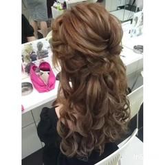 ヘアアレンジ ロング フェミニン ゆるふわ ヘアスタイルや髪型の写真・画像