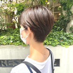 ハンサムショート ショートボブ ショートヘア 透明感カラー ヘアスタイルや髪型の写真・画像