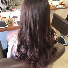 超音波 ピンク ガーリー ラベンダーピンク ヘアスタイルや髪型の写真・画像