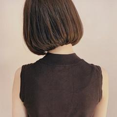 大人かわいい ナチュラル ボブ ミニボブ ヘアスタイルや髪型の写真・画像