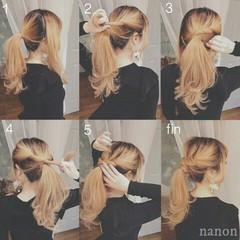 ヘアアレンジ ロング ポニーテール 大人かわいい ヘアスタイルや髪型の写真・画像