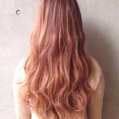 外国人風カラー ロング ハイトーン イルミナカラー ヘアスタイルや髪型の写真・画像
