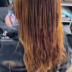 ブリーチ必須 大人ハイライト 3Dハイライト ロング ヘアスタイルや髪型の写真・画像