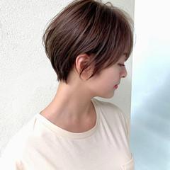 ショートボブ インナーカラー ショートヘア ショート ヘアスタイルや髪型の写真・画像