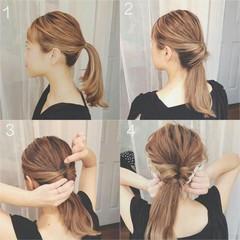 ロング 簡単ヘアアレンジ エレガント ヘアアレンジ ヘアスタイルや髪型の写真・画像