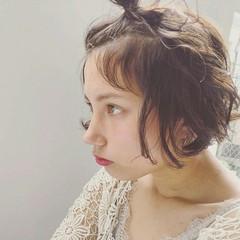 外国人風 ヘアアレンジ 簡単ヘアアレンジ ナチュラル ヘアスタイルや髪型の写真・画像