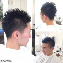 坊主 メンズ ショート ストリート ヘアスタイルや髪型の写真・画像
