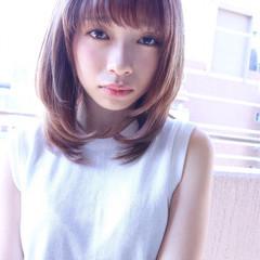 ハイライト 外国人風カラー レイヤーカット ベージュ ヘアスタイルや髪型の写真・画像