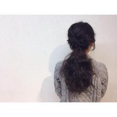 ナチュラル ロング ゆるふわ ヘアアレンジ ヘアスタイルや髪型の写真・画像