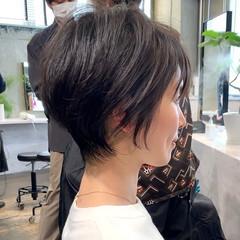 ガーリー 吉瀬美智子 ハンサムショート ハイライト ヘアスタイルや髪型の写真・画像