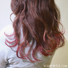 ニュアンス デート ピンク ナチュラル ヘアスタイルや髪型の写真・画像