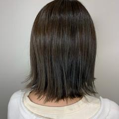 アッシュベージュ グレージュ ナチュラル ボブ ヘアスタイルや髪型の写真・画像