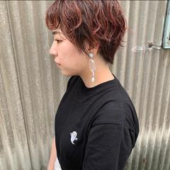 ナチュラル ベリーショート ショートヘア パーマ ヘアスタイルや髪型の写真・画像