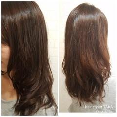 ワンカールパーマ ロング 上品 レイヤーカット ヘアスタイルや髪型の写真・画像