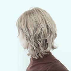 ストリート 抜け感 ベージュ ショート ヘアスタイルや髪型の写真・画像