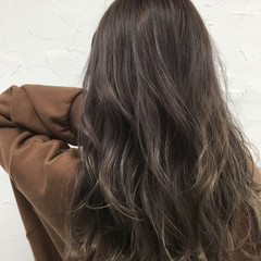 グラデーションカラー 外国人風 セミロング イルミナカラー ヘアスタイルや髪型の写真・画像