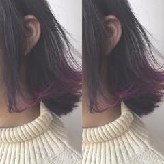 アッシュ ストリート グラデーションカラー ハイライト ヘアスタイルや髪型の写真・画像