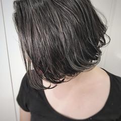 バレイヤージュ 色気 外国人風 ハイライト ヘアスタイルや髪型の写真・画像
