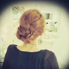 ロング ゆるふわ 簡単ヘアアレンジ 編み込み ヘアスタイルや髪型の写真・画像