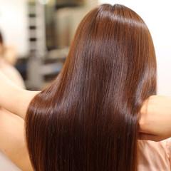 艶髪 ストレート ナチュラル ワンカール ヘアスタイルや髪型の写真・画像