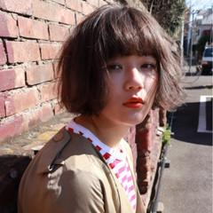 ワンレングス 無造作 ナチュラル 切りっぱなし ヘアスタイルや髪型の写真・画像