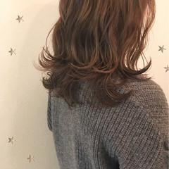 ナチュラル ゆるふわ かわいい ミディアム ヘアスタイルや髪型の写真・画像