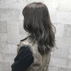ダブルカラー 外国人風 ナチュラル ミディアム ヘアスタイルや髪型の写真・画像