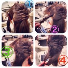 くるりんぱ パーティ アップスタイル コンサバ ヘアスタイルや髪型の写真・画像