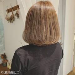 オフィス 大人かわいい ナチュラル ボブ ヘアスタイルや髪型の写真・画像
