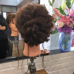 謝恩会 ミディアム ナチュラル 結婚式 ヘアスタイルや髪型の写真・画像