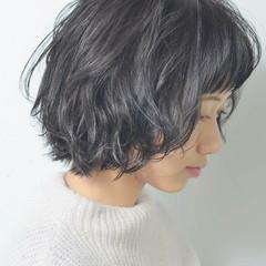 パーマ 透明感 モテ髪 ゆるふわ ヘアスタイルや髪型の写真・画像