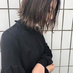 透明感 イルミナカラー ボブ ハイライト ヘアスタイルや髪型の写真・画像