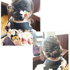 学校 謝恩会 ナチュラル ミディアム ヘアスタイルや髪型の写真・画像