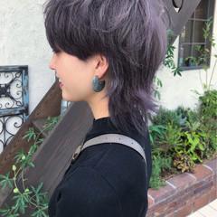 ウルフカット モード アッシュ マッシュ ヘアスタイルや髪型の写真・画像
