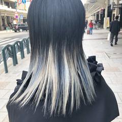 セミロング モード ブリーチカラー ブリーチオンカラー ヘアスタイルや髪型の写真・画像
