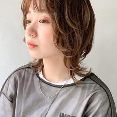 アンニュイほつれヘア ウルフレイヤー ボブ ウルフカット ヘアスタイルや髪型の写真・画像
