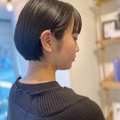 ショート ベリーショート ショートボブ 黒髪ショート ヘアスタイルや髪型の写真・画像