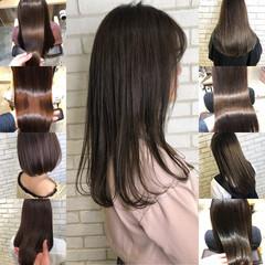 ナチュラル オフィス 髪質改善 グレージュ ヘアスタイルや髪型の写真・画像