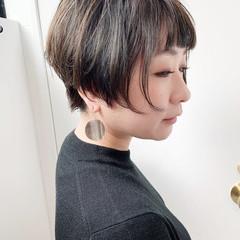 ショートボブ ベリーショート ナチュラル ハイライト ヘアスタイルや髪型の写真・画像