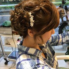ショート お団子 三つ編み ハーフアップ ヘアスタイルや髪型の写真・画像