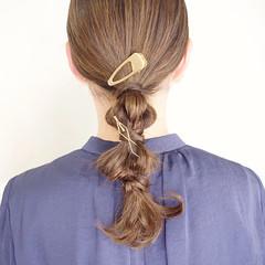 結婚式 簡単ヘアアレンジ ナチュラル 編みおろしヘア ヘアスタイルや髪型の写真・画像