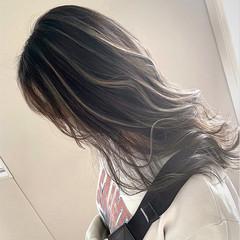 大人ハイライト セミロング ハイライト コントラストハイライト ヘアスタイルや髪型の写真・画像