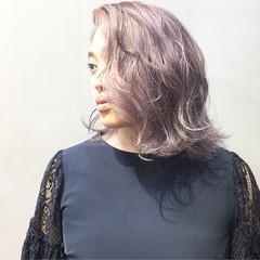 ラベンダーピンク アッシュグレージュ ボブ アッシュベージュ ヘアスタイルや髪型の写真・画像