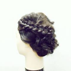 コンサバ モテ髪 愛され 四つ編み ヘアスタイルや髪型の写真・画像