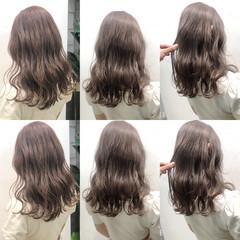 ミルクティー ミルクティーグレージュ ロング ミルクティーベージュ ヘアスタイルや髪型の写真・画像